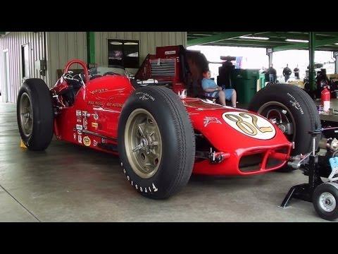 Vintage Indy Sprint Car Roadster V8 Gateway Motorsports Park