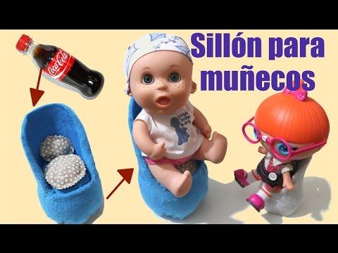 Sillón para muñecos Baby Pelones reciclando botella