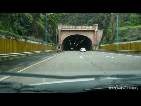 india travel @ mumbai pune expressway/express highway/bombay to lonavala car drive/india