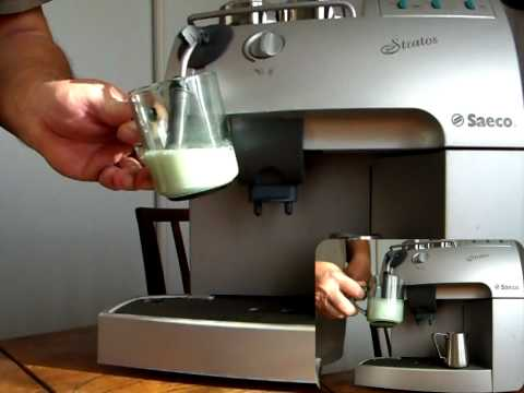 HD Milk frothing Saeco Stratos Royal