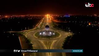 مشاهد جوية من ولاية #السيب بعد سريان فترة #منع الحركة