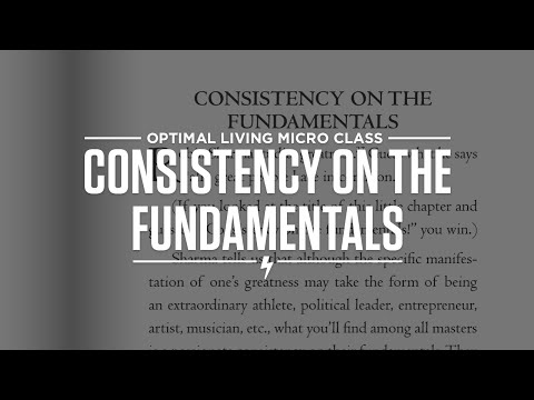 Consistency On The Fundamentals