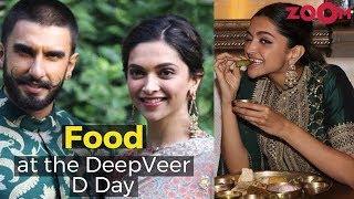 Ranveer Singh & Deepika Padukone's Food menu on the Wedding Day - ZOOMDEKHO