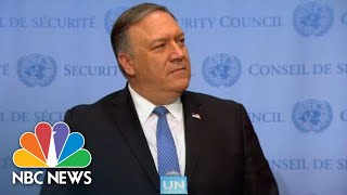 Mike Pompeo: We Want To Reimpose Tougher Restrictions On Iranian Missiles | NBC News - NBCNEWS