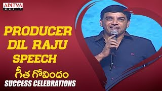 Producer Dil Raju Speech @ Geetha Govindam Success Celebrations || Vijay Devarakonda, Rashmika - ADITYAMUSIC