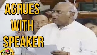 Mallikarjun Kharge Argues With Sumitra Mahajan | No Confidence Motion Mango News - MANGONEWS