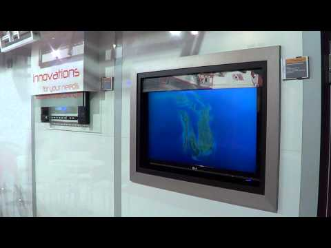 Untiech Systems vertical tv lift and FPART at ISE 2013