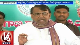 Agriculture Minister Pocharam Srinivas fired on TTDP leaders - V6NEWSTELUGU