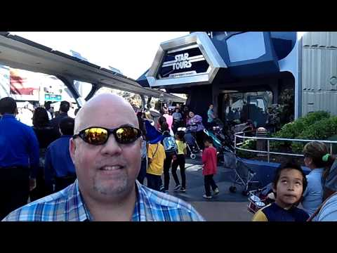 Disneyland Tomorrowland Star Tours The Adventures Continue Intrv @VegasBiLL @24k 2-3-13