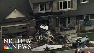 Utah Man Crashes Plane Into Own House After Being Arrested For Assaulting Wife | NBC Nightly News - NBCNEWS