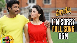 I'm Sorry Full Song BGM | Pantham Movie Songs | Gopichand | Mehreen | Gopi Sundar | Mango Music - MANGOMUSIC