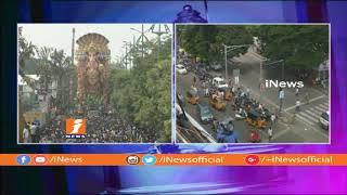 మరికాసేపట్లో ముగియనున్న ఖైరతాబాద్ గణేష్ నిమజ్జనం | Venkaiah Naidu To Attend Nimajjanam | iNews - INEWS