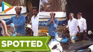 Rajinikanth Spotted At Bandra Shooting For Upcoming Film - HUNGAMA