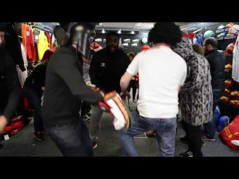Legend! Kolo Toure Dancing And Singing With Liverpool Fans