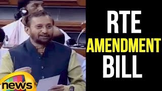 Prakash Javadekar moves RTE Amendment Bill | Lok Sabha 2018 Day 1 | Mango News - MANGONEWS