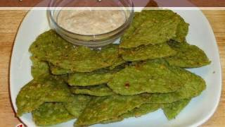 Spinach Triangle Cheese Crackers..