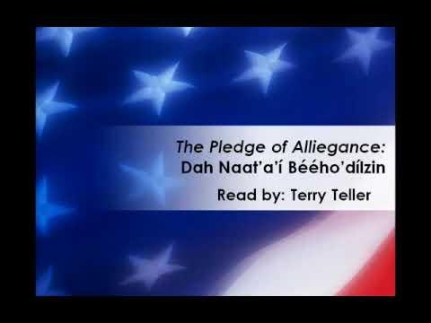 Pledge of Allegiance (in the Navajo Language)