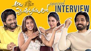 Ala Vaikunta Puram Lo Team Special Interview | Allu Arjun, Pooja Hegde, Sushanth,Nivetha Pethuraj - TFPC