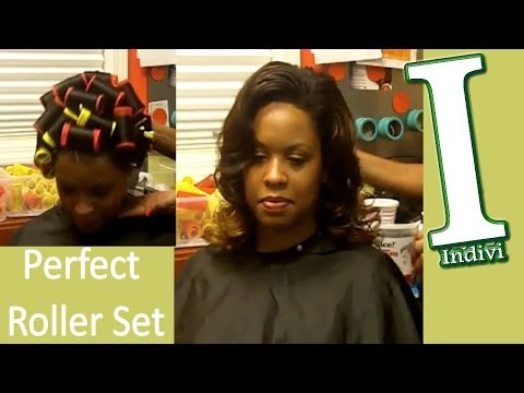 How To | Roller Set Hair Tutorial | Wash and Set Hair | Big Sexy Hot Curls | LF05