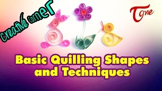 Basic Quilling Shapes and Techniques in Creative Corner | TeluguOne - TELUGUONE
