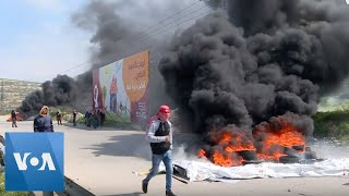 Palestinians Clash With Israeli Security Forces - VOAVIDEO