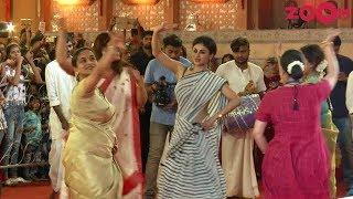 Mouni Roy's Elegant dance at Durga Puja Pandal - ZOOMDEKHO