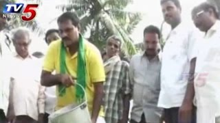 MLA Turns into Labour for Cyclone Relief Fund : TV5 News - TV5NEWSCHANNEL