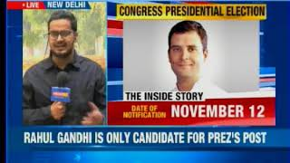 Rahul Gandhi is only candidate for President's post; ascension likely on December 1 - NEWSXLIVE