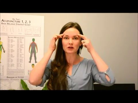 How to relieve sinus pain : Hayfever and sinus acupressure points