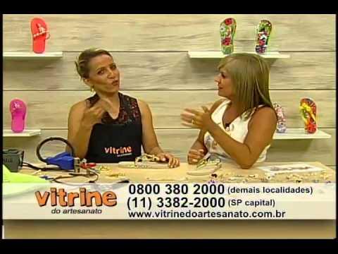 Trabalho em chinelo com Andreia Bassan - Vitrine do Artesanato na TV