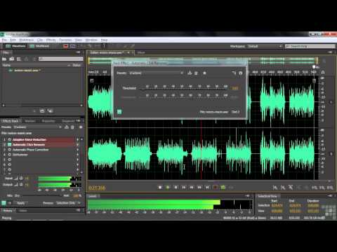 Adobe Audition CS6 Tutorial | Removing Noise | InfiniteSkills