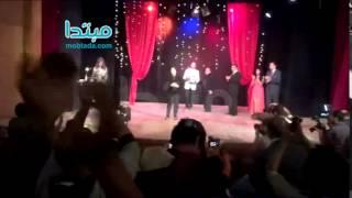 بالفيديو.. رجاء حسين تنهار من البكاء بعد تكريمها