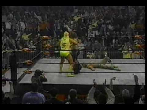 WCW Monday Nitro 1-22-96 Ric Flair vs Macho Man Randy Savage 2 of 2