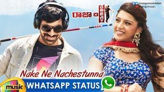 Best WhatsApp Status Video | Nake Ne Nachestunna Video Song | Raja The Great Songs | Ravi Teja - MANGOMUSIC