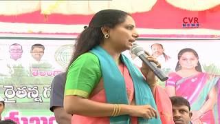 MP Kavitha Participates In Rythu Bandhu Program at Kammarpalli | CVR News - CVRNEWSOFFICIAL