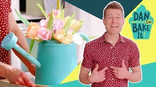Flower Vase Cake 💐 DAN CAN BAKE IT CHALLENGE #2 - FOODNETWORKTV