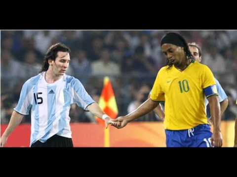 Messi y Ronaldinho 2 
