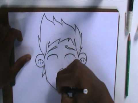 Video aula com Gene do Grafite 017 - Como desenhar um Rosto - Contornando o Rosto