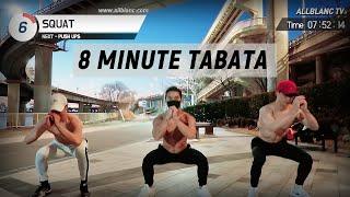 【EP41】8 Minute FAT-burning Tabata (6 Exercises x 2 Sets)