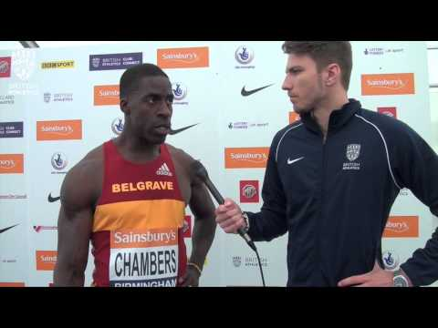 Dwain Chambers wins his 100m heat #BritishChamps