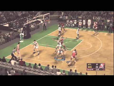NBA 2K12 Larry Bird [Commentary] 85-86 Celtics vs Hawks Greatest Gameplay