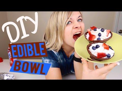 DIY EDIBLE BOWLS 🍫 Yummy and Fun! // SoCassie