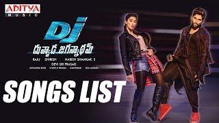 DJ - Duvvada Jagannadham Songs List || AlluArjun, Pooja Hegde, Harish Shankar, DSP - ADITYAMUSIC