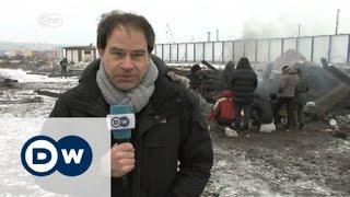 Refugees stuck in improvised camp in Serbia | DW News - DEUTSCHEWELLEENGLISH