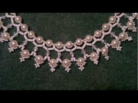 Ожерелье своими руками из бисера и бусин.