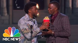 'Black Panther' Star Hands Over His MTV Award To James Shaw Jr. Waffle House Hero | NBC News - NBCNEWS