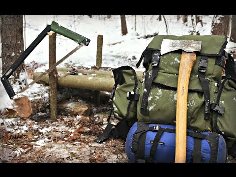 Gear for a 2 Night Bushcraft Camp in the Snow