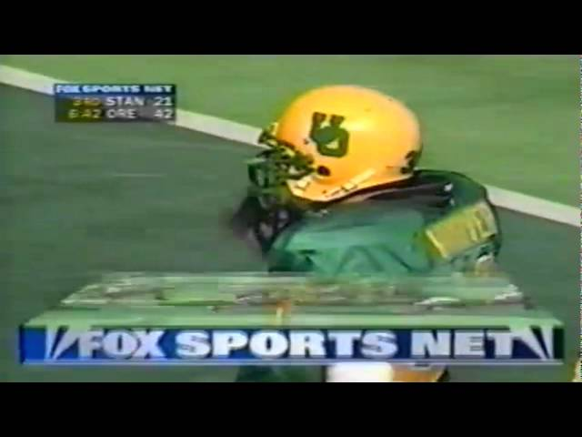 Oregon LB Chris Vandiver sacks Stanford QB Todd Husack 9-26-1998