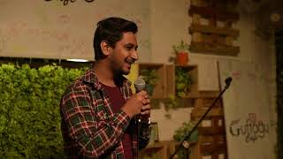 Jokes On Tinder ~ Stand up Comedy ~ Vansh Bhatia : Guftagu Cafe - ITVNEWSINDIA