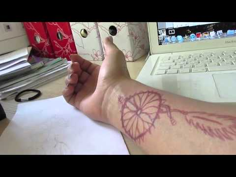 HOW TO: Black henna tatoo ( dream catcher )